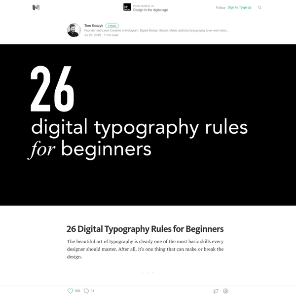 26 Digital Typography Rules for Beginners - Design in the digital age