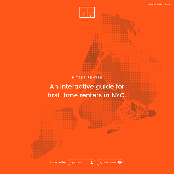 An interactive guide, no-nonsense for first-time renters in NYC.