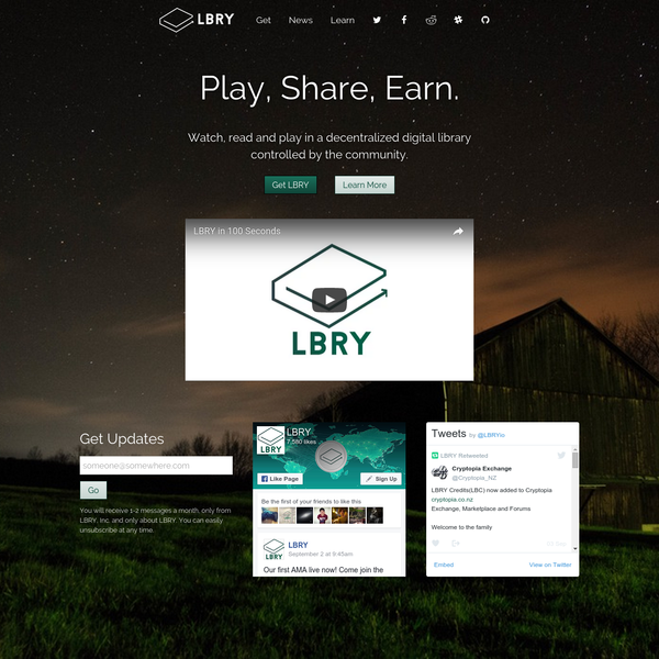 Meet LBRY, a content sharing and publishing platform that is decentralized and owned by its users.