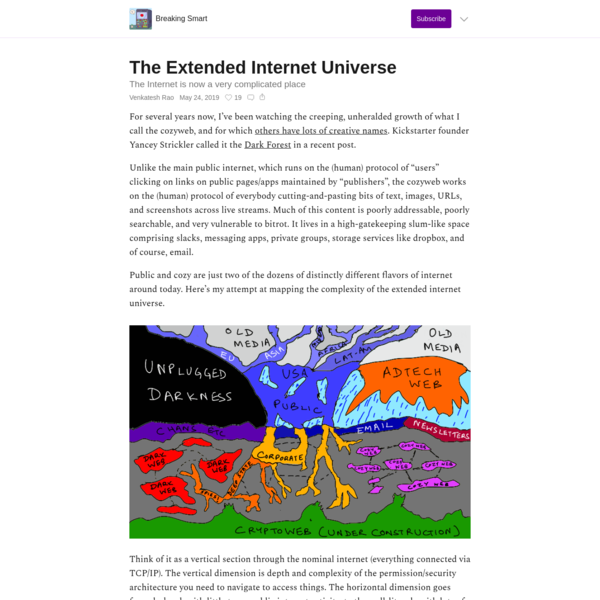 The Extended Internet Universe