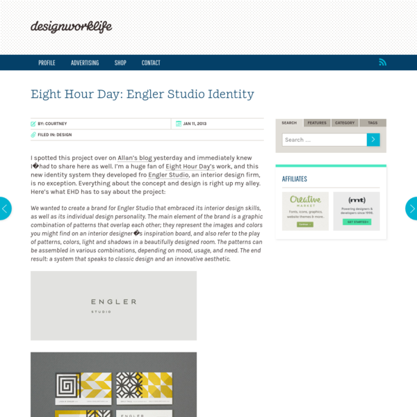 Eight Hour Day: Engler Studio Identity | Design Work Life