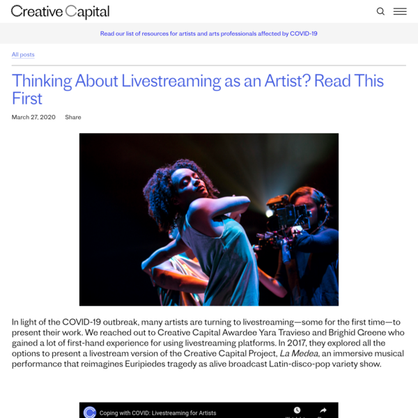 Thinking About Livestreaming as an Artist? Read This First | Creative Capital