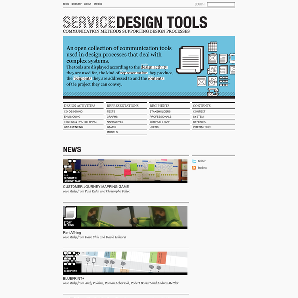 Service Design Tools | Communication methods supporting design processes
