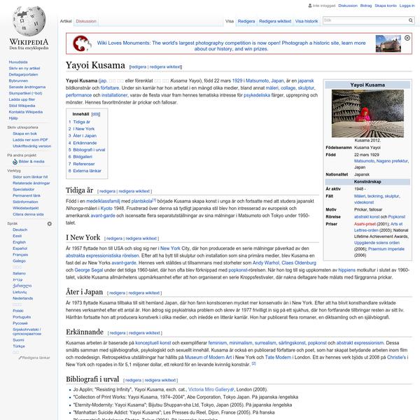 Yayoi Kusama - Wikipedia