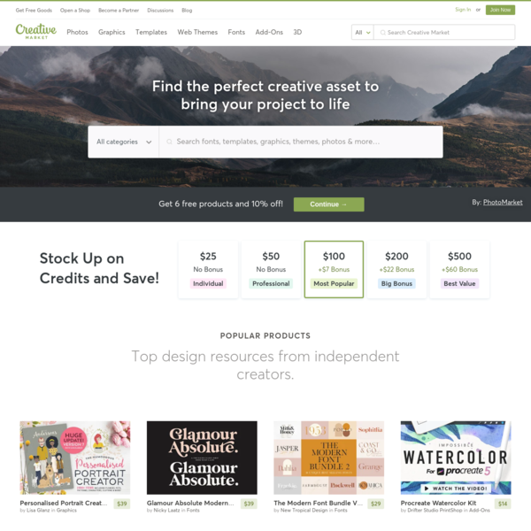 Fonts, Graphics, Themes and More   Creative Market