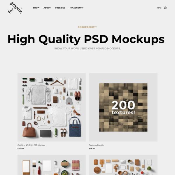 Premium & Free PSD Mockups   forgraphic™