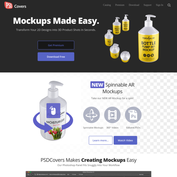 PSDCovers * Photoshop Mockups For Product Presentation