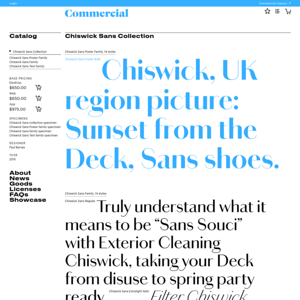Chiswick Sans Collection