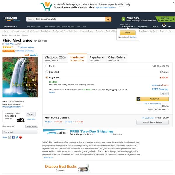 Buy Fluid Mechanics on Amazon.com ✓ FREE SHIPPING on qualified orders