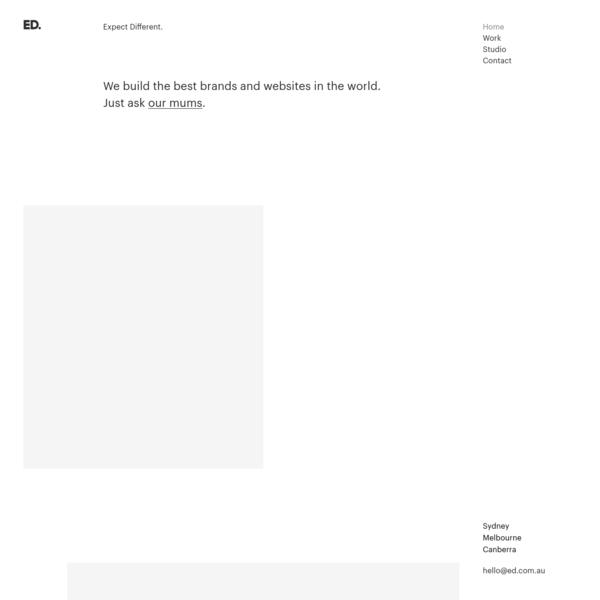 ED.   Branding, Web Design & Development