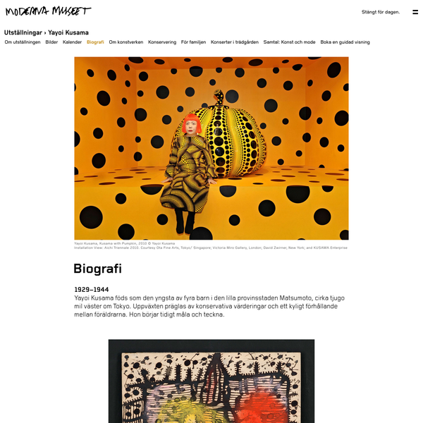 Biografi | Moderna Museet i Stockholm