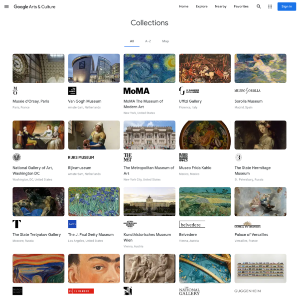Collections - Google Arts & Culture