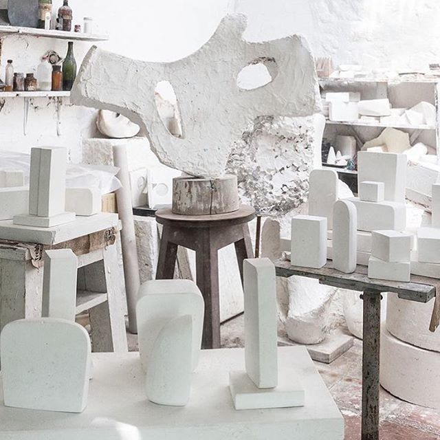 Barbara Hepworth studio via @shainamote #barbarahepworth #studio #spaces #inspiration #art #voyagershop