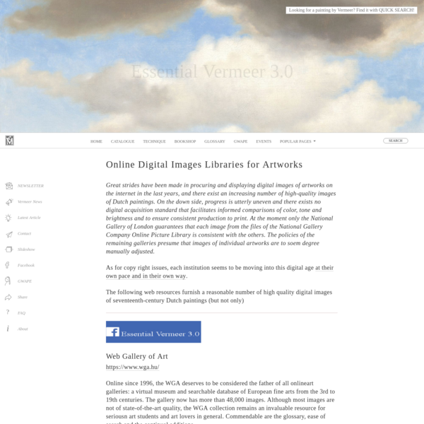 Resources: Online Digital Images of Seventeenth-Century Dutch Paintings