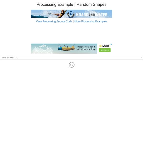 Processing Example | Random Shapes
