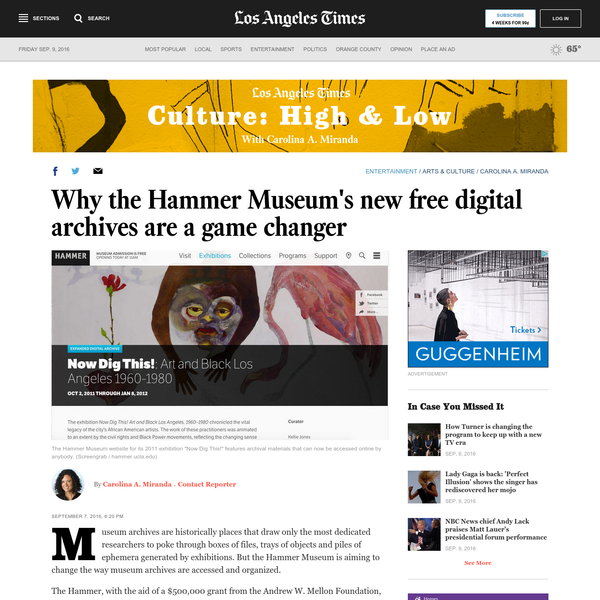 Why the Hammer Museum's new free digital archives are a game changer
