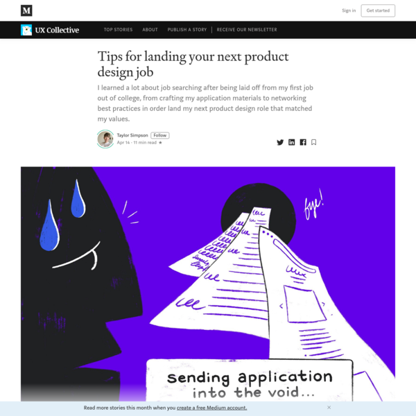 Tips for landing your next product design job