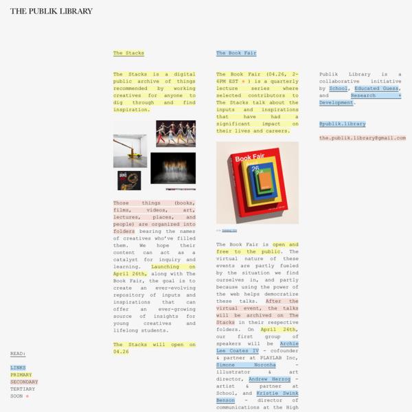 The Publik Library | A creative accessibility initiative