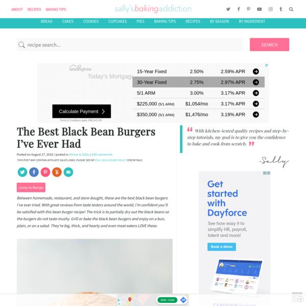The Best Black Bean Burgers I've Ever Had | Sally's Baking Addiction