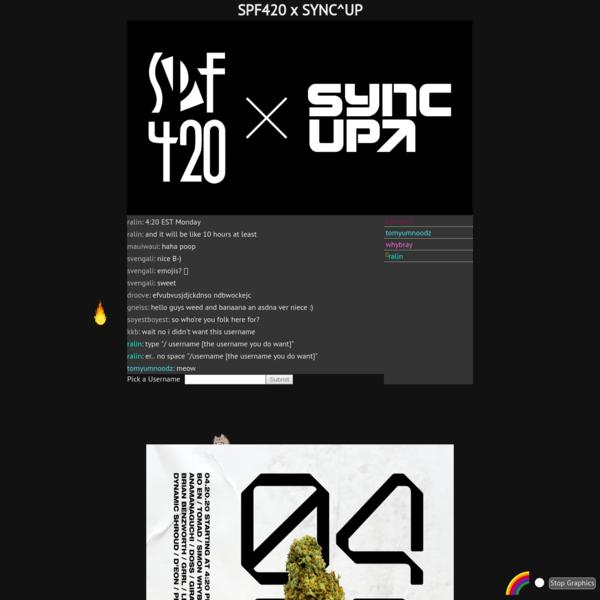 SPF420 x SYNC^UP LIVESTREAM
