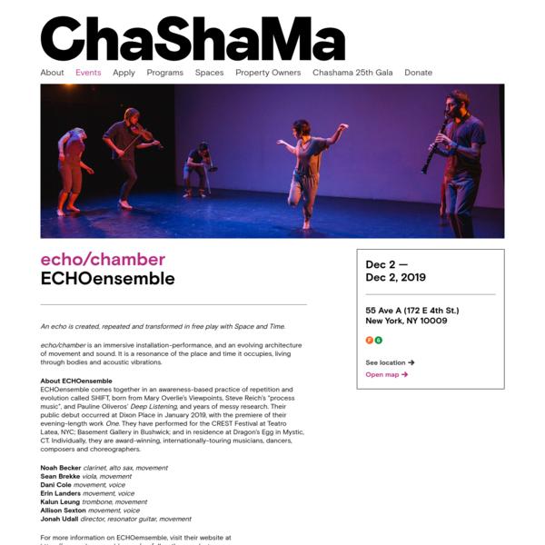echo/chamber - ECHOensemble | 2019