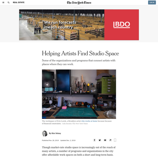 Helping Artists Find Studio Space