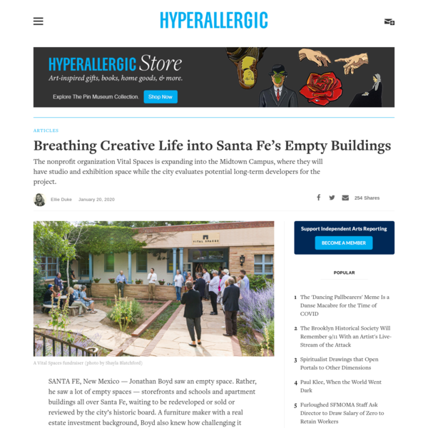 Breathing Creative Life into Santa Fe's Empty Buildings