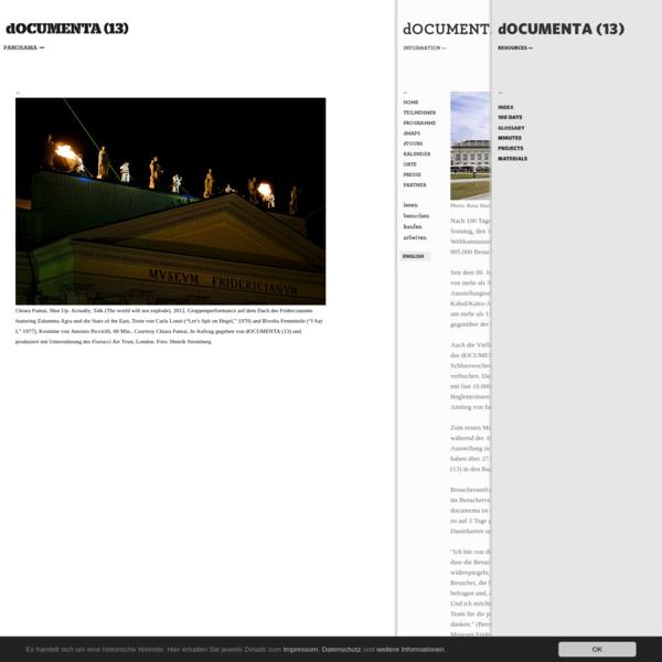 dOCUMENTA (13) - documenta13