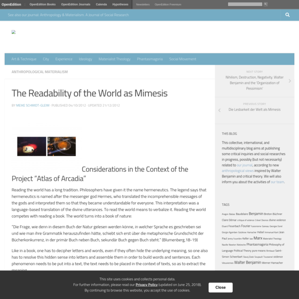 The Readability of the World as Mimesis