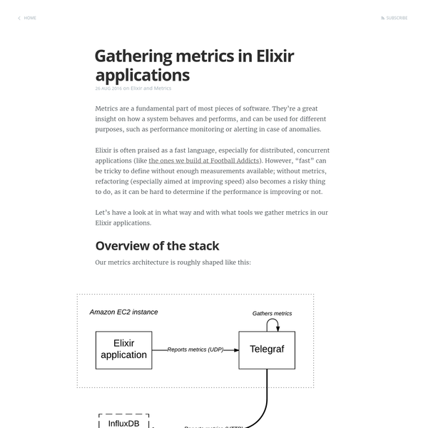 A look at how we measure things in our Elixir applications, what tools we use, and why we do it.