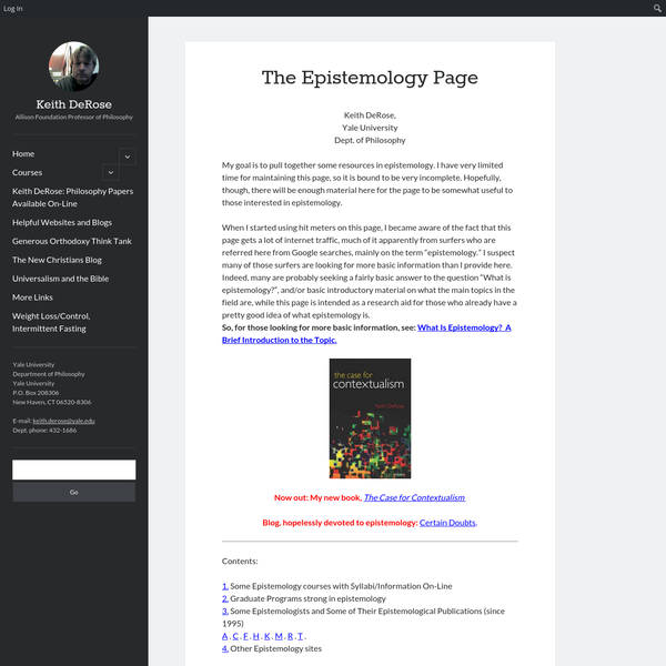 The Epistemology Page