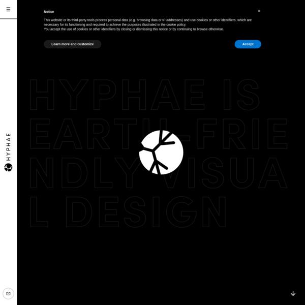 Earth-friendly visual design - Hyphae - Freelance Designer in Bristol, UK