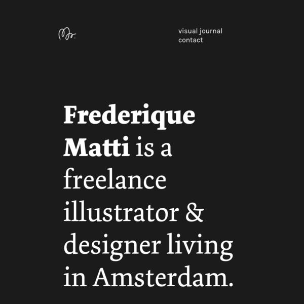 Frederique Matti Illustrator & designer