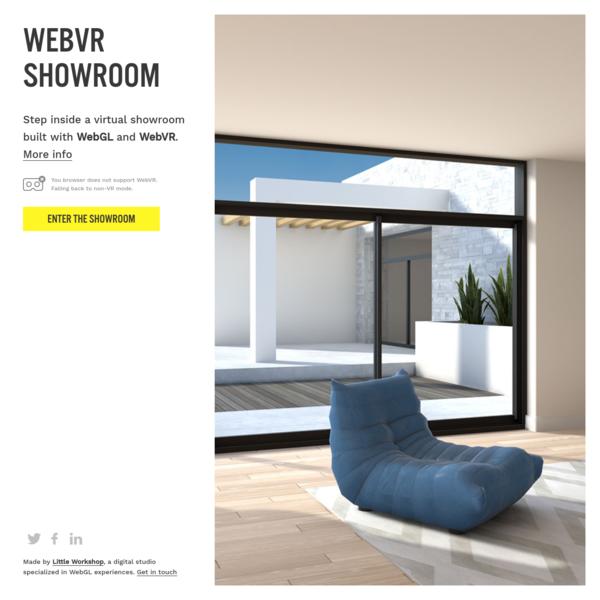 WebVR Showroom
