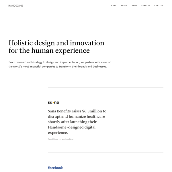 Handsome   Holistic Experience Design Agency