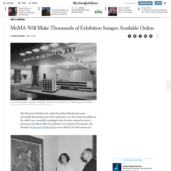 MoMA Will Make Thousands of Exhibition Images Available Online