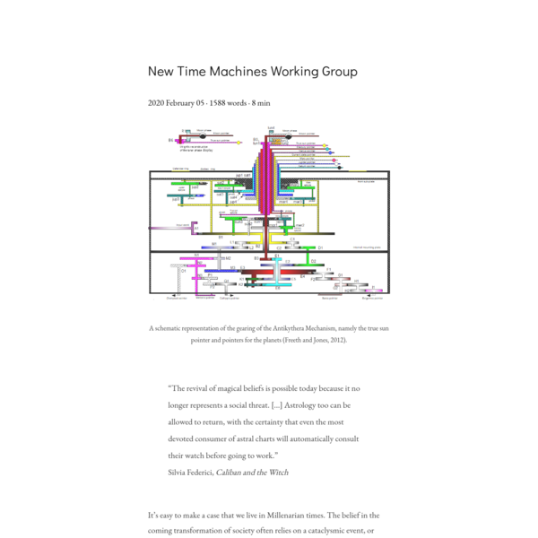 New Time Machines Working Group