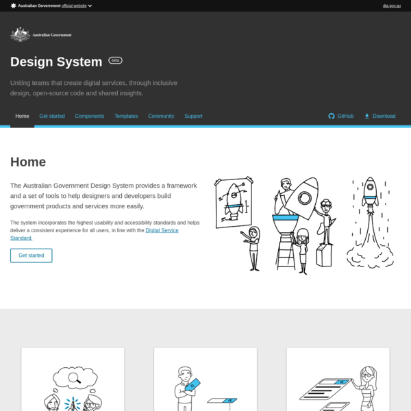 Homepage - Australian Government Design System