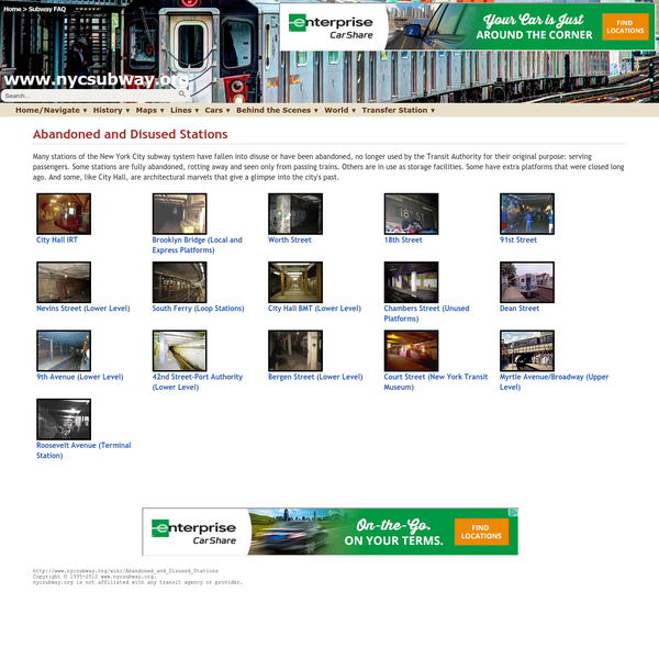 www.nycsubway.org: Abandoned and Disused Stations
