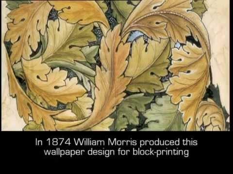 Block-printing a William Morris wallpaper design