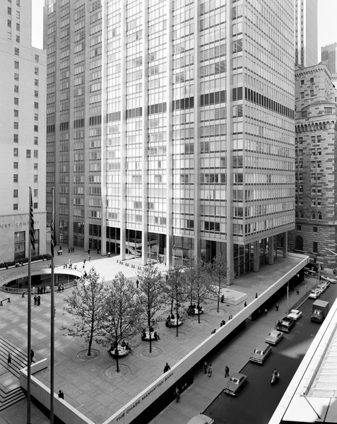 One Chase Manhattan Bank (1961), Gordon Bunshaft, SOM