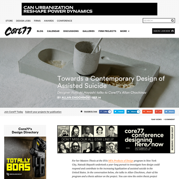Towards a Contemporary Design of Assisted Suicide - Core77