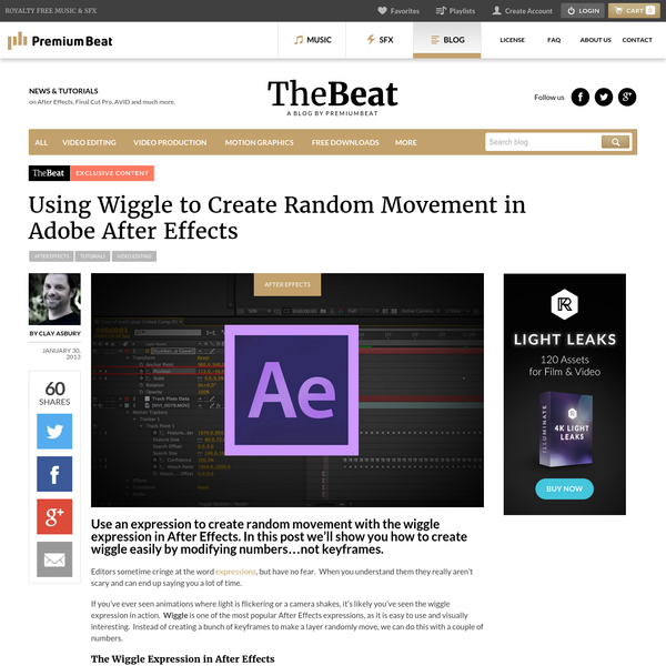 Using Wiggle to Create Random Movement in Adobe After Effects - The Beat: A Blog by PremiumBeat
