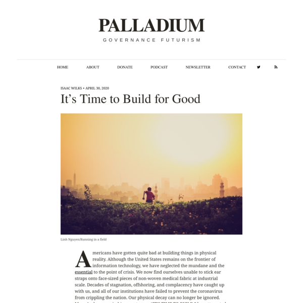 It's Time to Build for Good