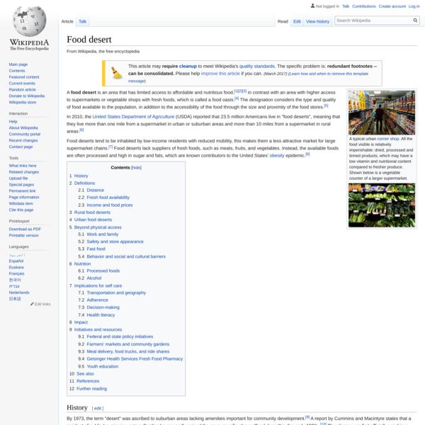 Food desert - Wikipedia