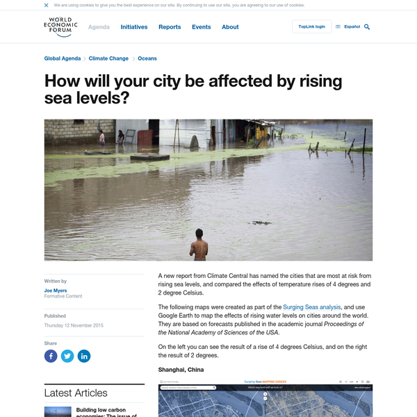 How will your city be affected by rising sea levels?