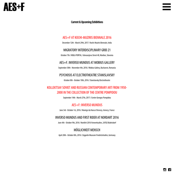 AES+F is a collective of four Russian artists: Tatiana Arzamasova, Lev Evzovich, Evgeny Svyatsky, and Vladimir Fridkes.
