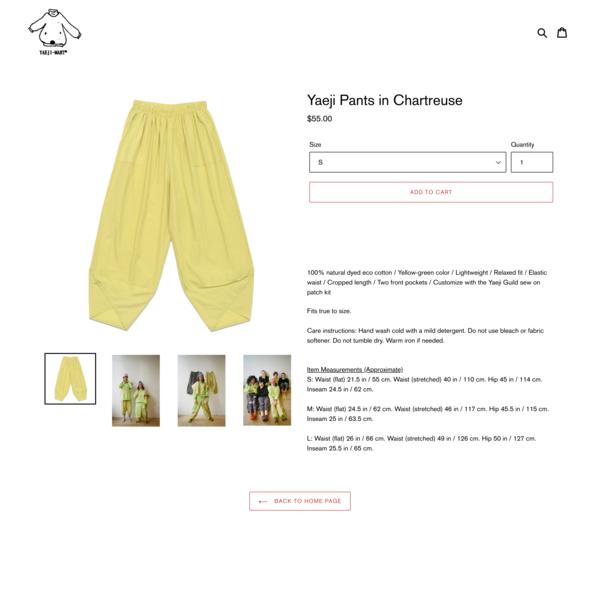 Yaeji Pants in Chartreuse