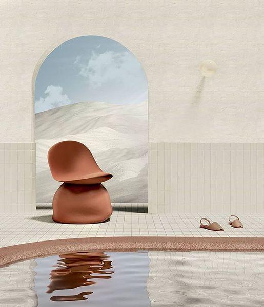 Nowhere pool ✨ . . . . . . . 👨🏻💻 by @jorgerosgis #setdesign #space #architecture #interior #design #layersandshapes #interi...