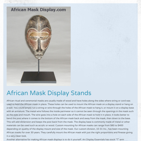 Mask Display Stands